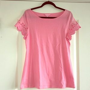 Lilly Pulitzer Light Pink Lace Short Sleeve
